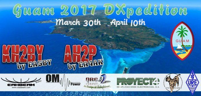KH2BY y AH2P estarán activos desde Guam KH2